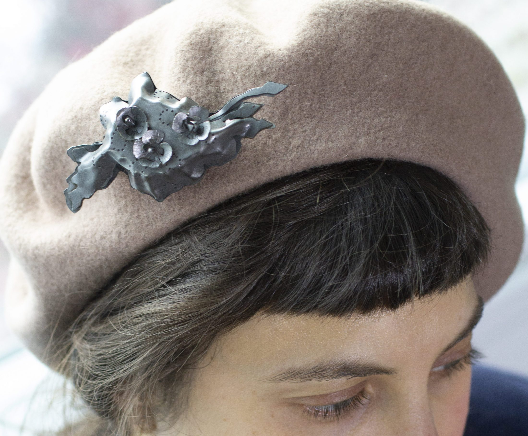 Hat, pinned.