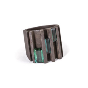 Blue & Green Tourmaline Ring